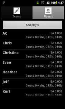 Softball Stats Pro screenshot 1