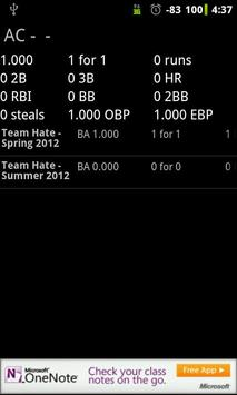 Softball Stats Pro screenshot 2