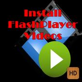 Install flash player videos icon