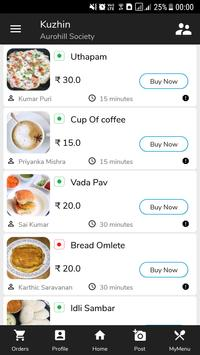 Kuzhin (Connect with neighbour over homemade food) screenshot 1