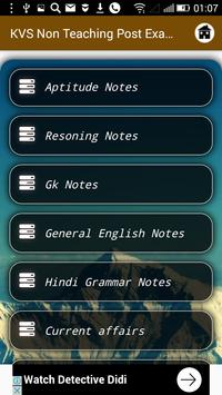 KVS Non Teaching Post Exam Preparation 2018 screenshot 1