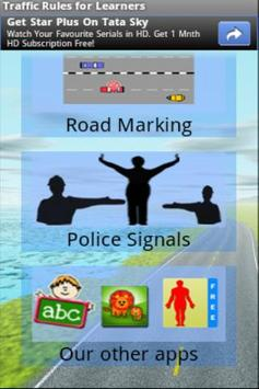 Traffic Signs for Learners poster