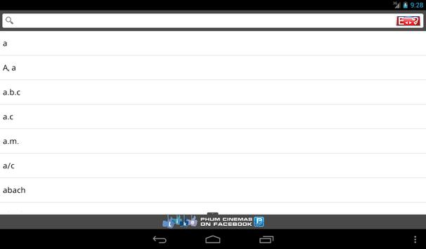Phum Dictionaries 3 apk screenshot