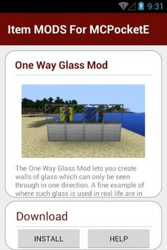 Item MODS For MCPocketE apk screenshot