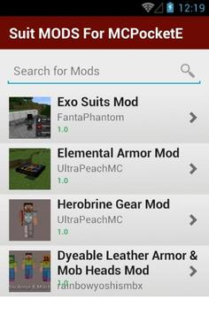 Suit MODS For MCPocketE screenshot 1