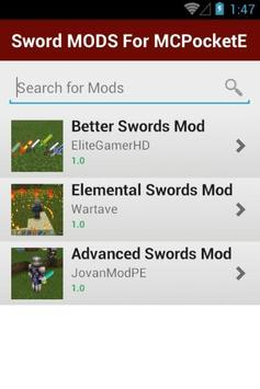 Sword MODS For MCPocketE screenshot 1