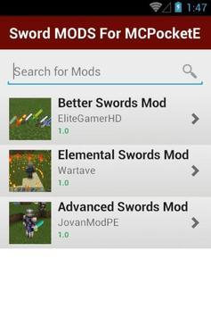 Sword MODS For MCPocketE apk screenshot