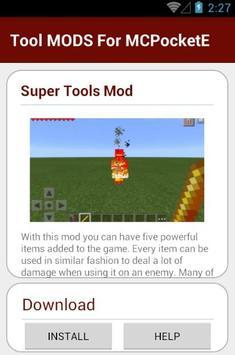 Tool MODS For MCPocketE apk screenshot