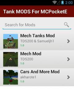 Tank MODS For MCPocketE apk screenshot