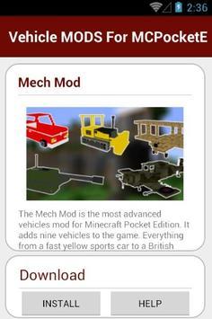 Vehicle MODS For MCPocketE apk screenshot