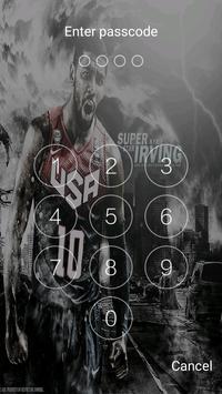 Keypad lock screen for Kyrie Irving screenshot 2