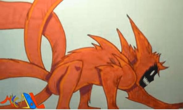 How To Draw Naruto Kyubi Power screenshot 2