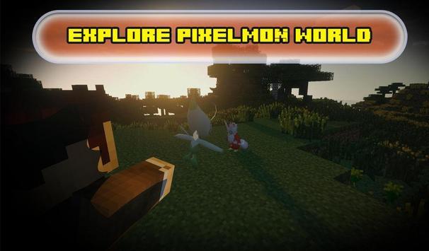 Pocket craft : pixelmon MCPE poster