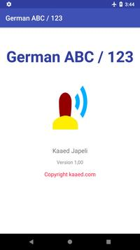 ABC & 123 - German alphabet and numbers poster