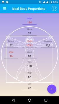 Ideal Body Proportions poster