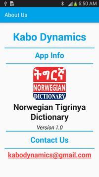 Tigrinya Norwegian Dictionary screenshot 4