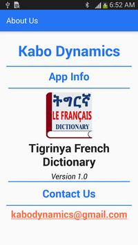 Tigrinya French Dictionary apk screenshot