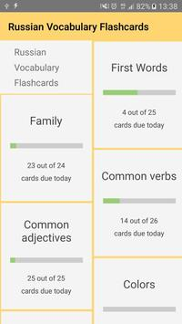 Russian Vocabulary Flashcards poster