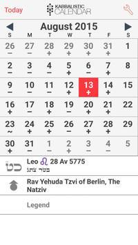 Kabbalistic Calendar poster