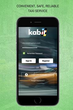 kabit™ Taxi Booking App: Powered by Kaptyn poster