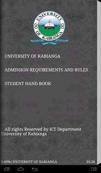 UOK student handbook poster