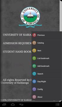 UOK student handbook screenshot 1