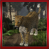 Leopard Angry 3D icon