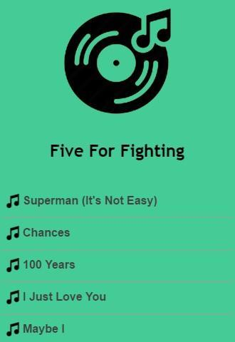 Five For Fighting Lyrics Top Hits for Android - APK Download