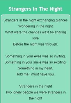 Frank Sinatra Lyrics apk screenshot