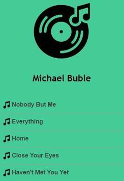 Michael Buble Lyrics poster