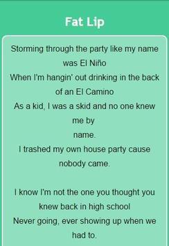 Sum 41 Lyrics screenshot 4