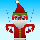 Santa Skiing adventure icon