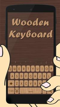 3D Wooden Skin Keyboard Theme poster