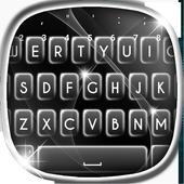 Sparkle Black and White Keyboard icon