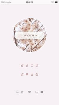 벚꽃 움짤 버즈런처 테마 (홈팩) apk screenshot