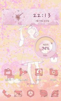 페인팅소녀 카카오홈 테마 poster