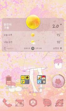 페인팅소녀 카카오홈 테마 apk screenshot