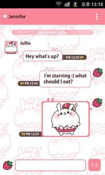 Fluffy Rabbit Kakao Theme. screenshot 2
