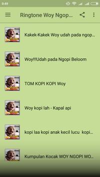 Ringtone Woy Ngopi Diem-Diem Bae screenshot 1