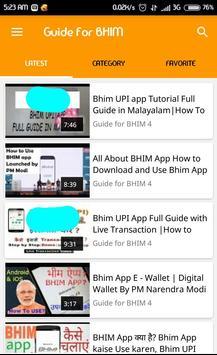 Guide How To For BHIM UPI poster