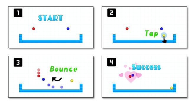 Kiss Balls:ball game,easy game poster