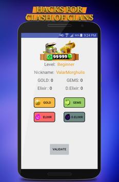 Cheat in Clash Of Clans Simulator 💎💎 screenshot 1
