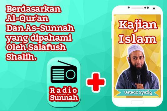 Kajian Ustadz Syafiq Basalamah dan Radio Sunnah poster