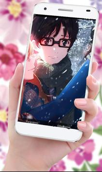 Live Wallpaper For Kaori Miyazono and Kousei Arima screenshot 8