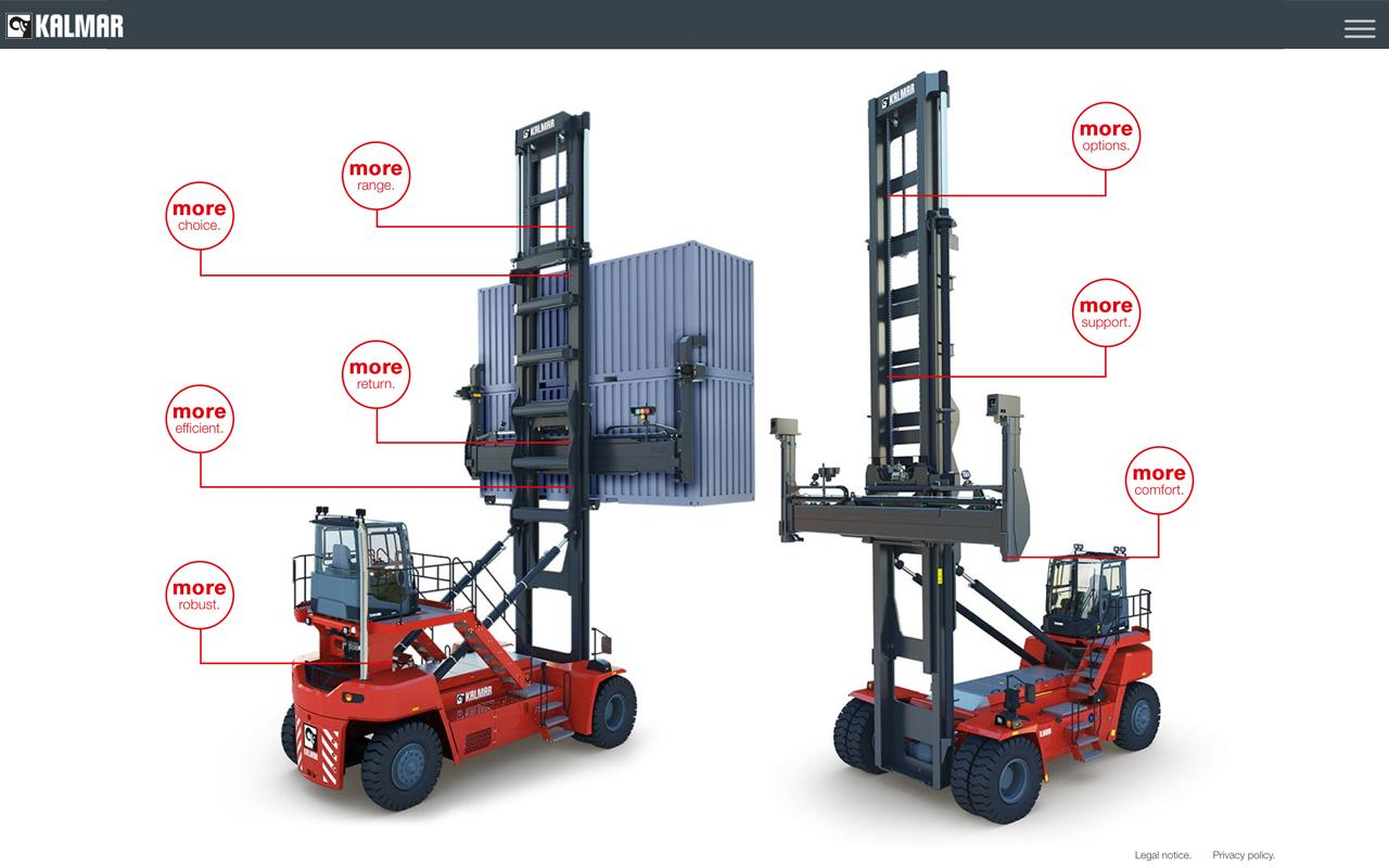 Empty container handler kalmar investments min hao yuan investment