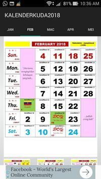 Kalender Kuda 2018 screenshot 1