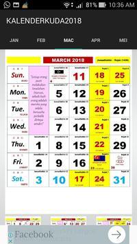 Kalender Kuda 2018 screenshot 2