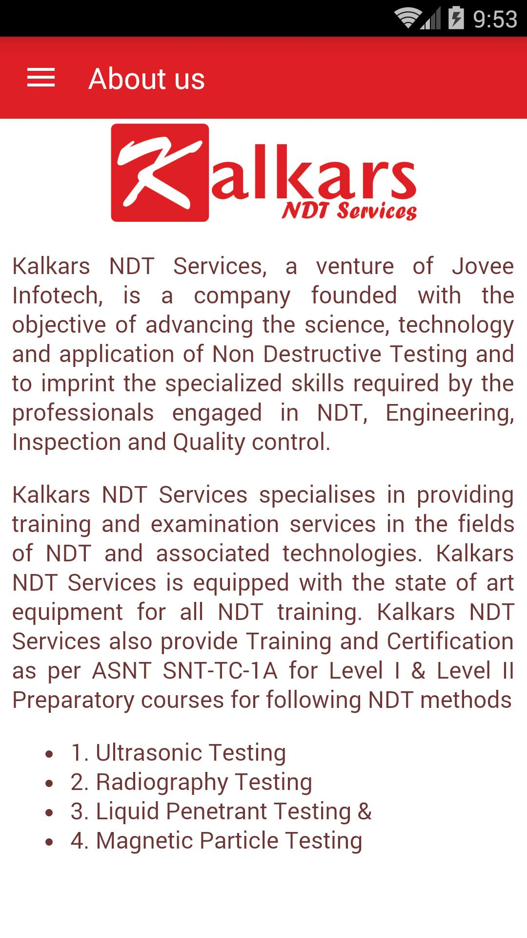 Kalkars NDT Services for Android - APK Download