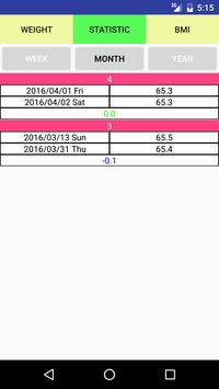 Weight Record apk screenshot