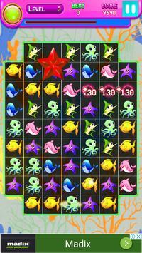 Funny Fish Match 3 apk screenshot
